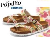 ビルケンシュトックの花柄 パピリオ