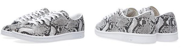HYKE x adidas パイソン柄のスタンスミス詳細